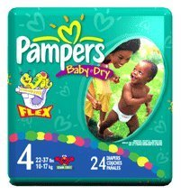 Pampers Diapers Size 4 (22-37 lbs) 24 ea