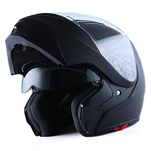 1Storm Motorcycle Street Bike Modular/Flip up Dual Visor/Sun Shield Full Face Helmet