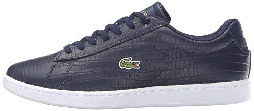 Lacoste Women's Carnaby Evo G316 6 Fashion Sneaker, Navy/Navy, 7.5 M US