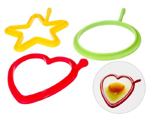 Km Silicone Egg Rings Heart Star Circle Shapes