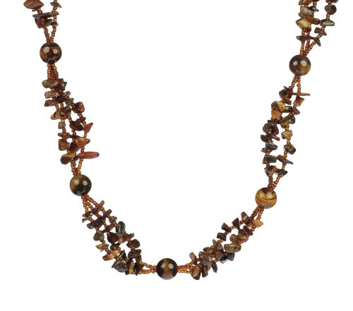 Amber Mesa Stone and Bead Necklace