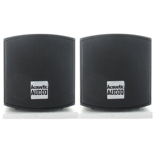 Find Cheap Acoustic Audio AA321B Surround Speakers, Black, Set of 2