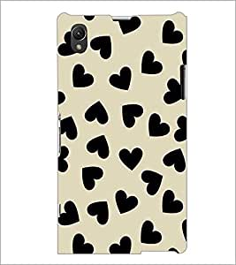 PrintDhaba Heart Design D-1446 Back Case Cover for SONY XPERIA Z1 (Multi-Coloured)