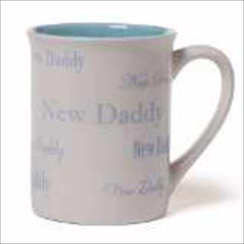 Gund 128388 Mug New Daddy Blue White