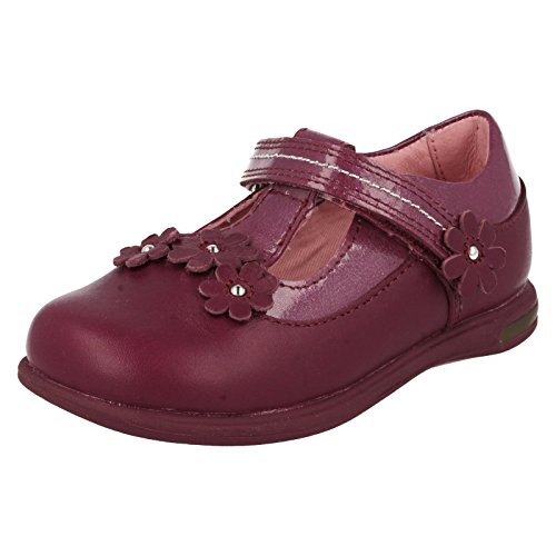 Girls Startrite Light Up T-Bar scarpe X Glitter, viola (Purple), 23 EU