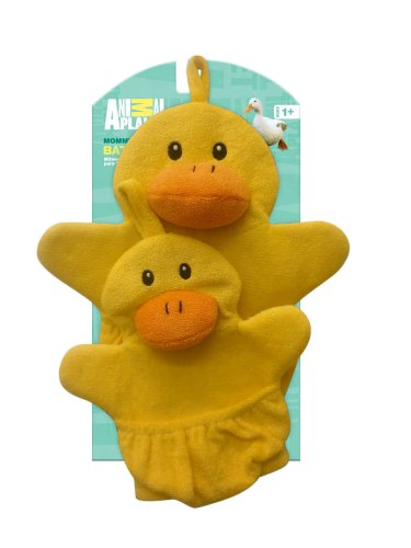 Animal Planet Mommy And Baby Wash Mitts, Duck front-863961