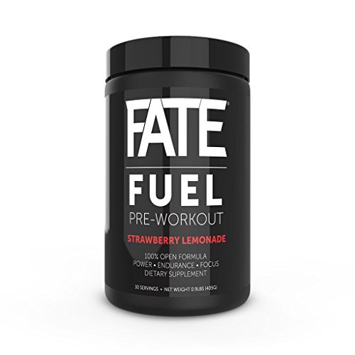 FATE FUEL Pre Workout Supplement with Creatine, Nitric Oxide, Beta Alanine, and Energy, Strawbery Lemonade, 405 grams (Nitric Fuel compare prices)