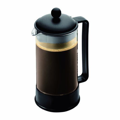 Bodum 1548-01US Brazil 1-liter 34-Ounce French Press Coffeemaker, Black