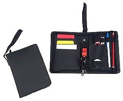 SAHNI SPORTS PVC Cards Football Referee Wallet, Standard, Black