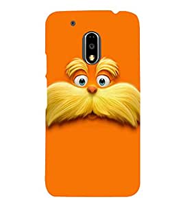printtech Lorax Face Cartoon Back Case Cover for Motorola Moto G4 Plus / Motorola Moto G4