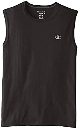 Champion Men's Jersey Muscle Tee (Small/Black)