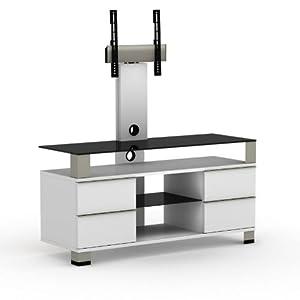 elmob pone pn 120 02f blanc meuble avec support cran. Black Bedroom Furniture Sets. Home Design Ideas