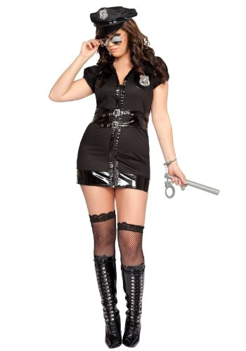 7 Pc Dirty Cop Adult Plus Costume