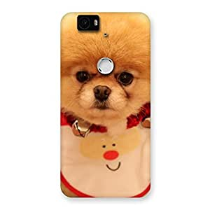 Cute Cutest Pup Multicolor Back Case Cover for Google Nexus-6P