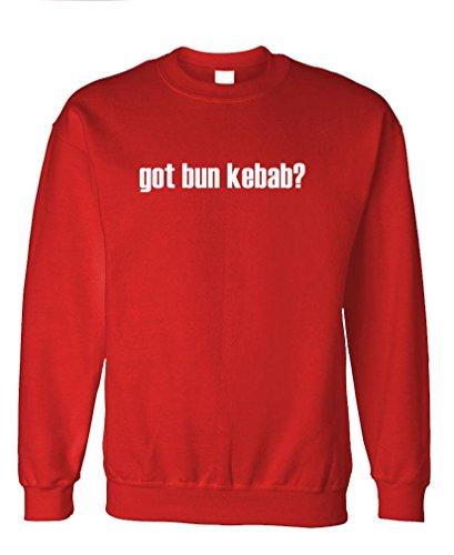Got Bun Kebab? - Mens Fleece Sweatshirt, M, Red