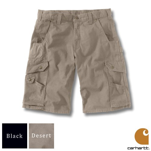 Carhartt Workwear Mens Ripstop Work Shorts Desert Waist 30 Inch