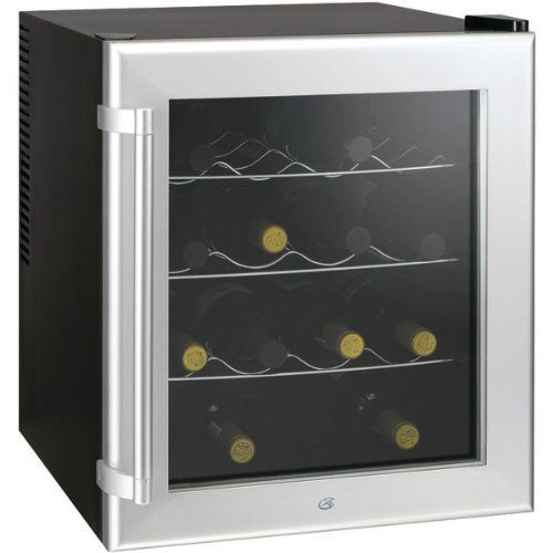 Check Out This Culinair Aw160s Thermoelectric 16-Bottle Wine Cooler, Silver and Black