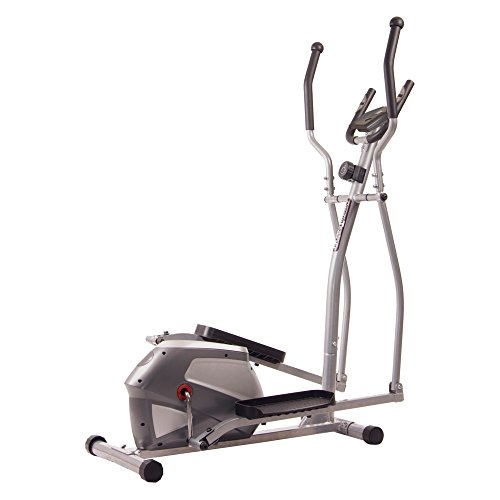 Body Champ Magnetic Elliptical Trainer, Gray/Silver