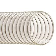 "Hi-Tech Duravent EH-M Heavy-Duty Series PVC Vacuum Duct Hose, Clear, 3"" ID, 3-1/2"" OD, 25' Length"