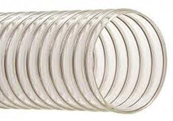 Hi-Tech Duravent EH-M Heavy-Duty Series PVC Vacuum Duct Hose, Clear