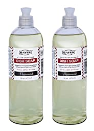 Lab-Clean 108-2 Bayes Eco-Responsible Dish Soap - Holiday Peppermint - 16 OZ - 2 Pack
