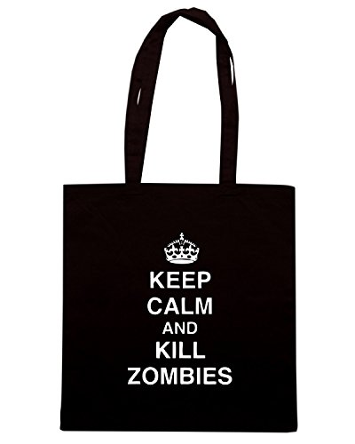 T-Shirtshock - Borsa Shopping TZOM0042 keep calm and kill zombies tshirt, Taglia Capacita 10 litri