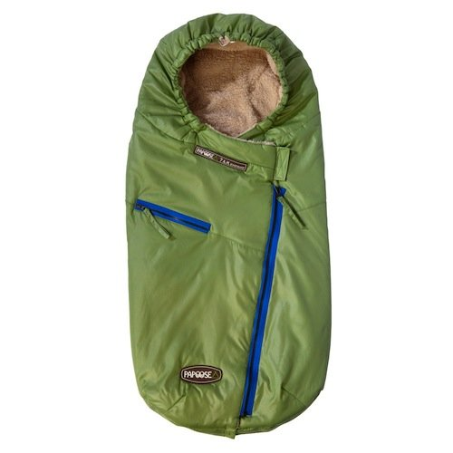 7 A.M. Enfant Papoose Light Weight Baby Bunting Bag, Green Tea, Medium/Large