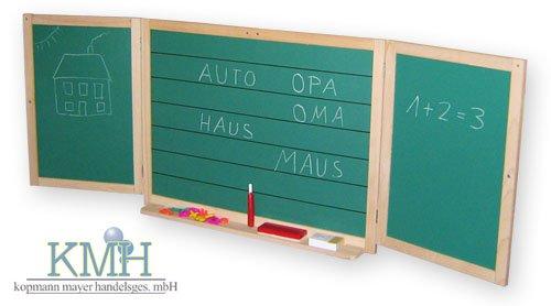 aufklappbare kinder spieltafel mit kreide und magnetbuchstaben tafel spieltafel. Black Bedroom Furniture Sets. Home Design Ideas