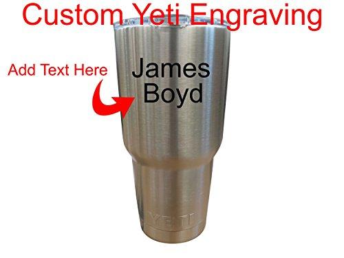Yeti 30 oz. Rambler Tumbler Custom Laser Engraved Cup