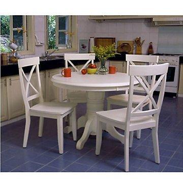 Antique White 5-Piece Dining Set