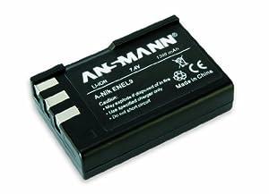 Ansmann 5044133/05 7.4 Volt A-Nik ENEL9 1300mAh Lithium Replacement Battery for Nikon EN EL 9 and D 40