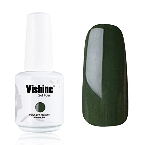 Vishine-Gelpolish-Professional-UV-LED-Soak-Off-Varnish-Color-Gel-Nail-Polish-Manicure-Salon-Army-Green1436