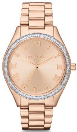 $180 Michael Kors Blake Rose Gold-tone Dial Rose Gold-tone Stainless Steel Bracelet Ladies Watch MK3245