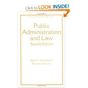 Public Administration and Law,   by David H. Rosenbloom