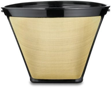 2 X #4 Cone Shape Permanent Coffee Filter (Gold/Black, 1) (Coffee Filter Gold 2 compare prices)