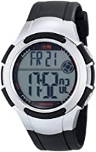 Timex Men39s T5K237 1440 quotSportsquot Digital Watch with Black and Silver-Tone Resin Band