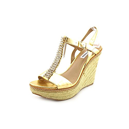 Steve Madden Women'S Smashh T-Strap Wedge,Gold Multi,9.5 M Us front-889113