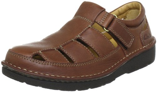 Clarks Nature Open Sandals Mens Brown Braun (Mahogany Leather) Size: 11 (45 EU)