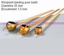 Recipiente de tjanting para Batik, diámetro 35mm, desagüe 1,5mm
