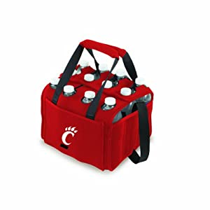 Picnic%20Time NCAA Cincinnati Bearcats Beverage Buddy Insulated 12-Pack Drink Tote, Red