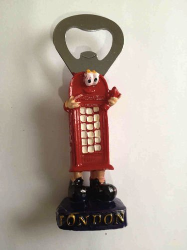 I love London London Red Postbox Bottle Opener Fridge Freezer Magnet SOUVENIR