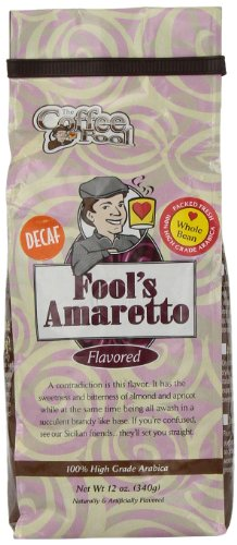 The Coffee Fool Fool'S Whole Bean, Decaf Amaretto, 12 Ounce