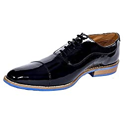 Style centrum Mens Black Leather Formal Shoes (FO-14116)-9