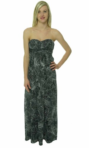 Jessica Simpson Women's Strapless Maxi Dress Black 6