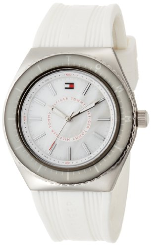 Tommy Hilfiger Women's 1781006 Sport Quartz White Dial White Silicon Watch