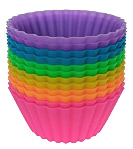Pantry Elements Jumbo Silicone Baking Cups - Set of 12 Large 3.5-inch Diameter x 1.6-inch... by Pantry Elements
