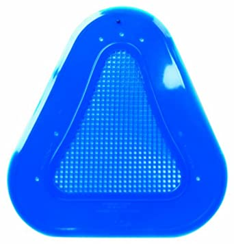 Continental 160A Blue Vinyl Contoured Urinal Screens (Case of 10)