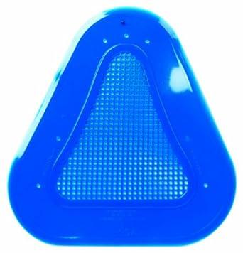 Continental 160A Blue Vinyl Contoured Urinal Screens (Case of 10)