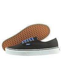 Vans Authentic VN-0U1WAL7 Black / Bright Blue 3.5 D(M) US Men / 5 B(M) US Women