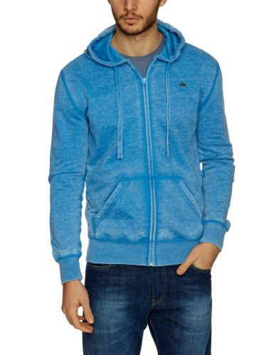 Quiksilver Burn Out Hood Zip Men's Sweatshirt Pacific Large